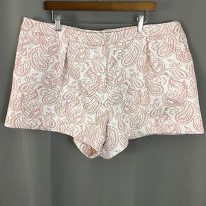 Victoria Beckham for Target pink paisley shorts
